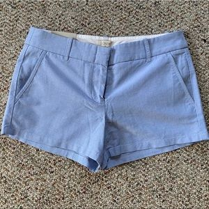 "J. Crew Powdered Oxford 3"" Chino shorts"